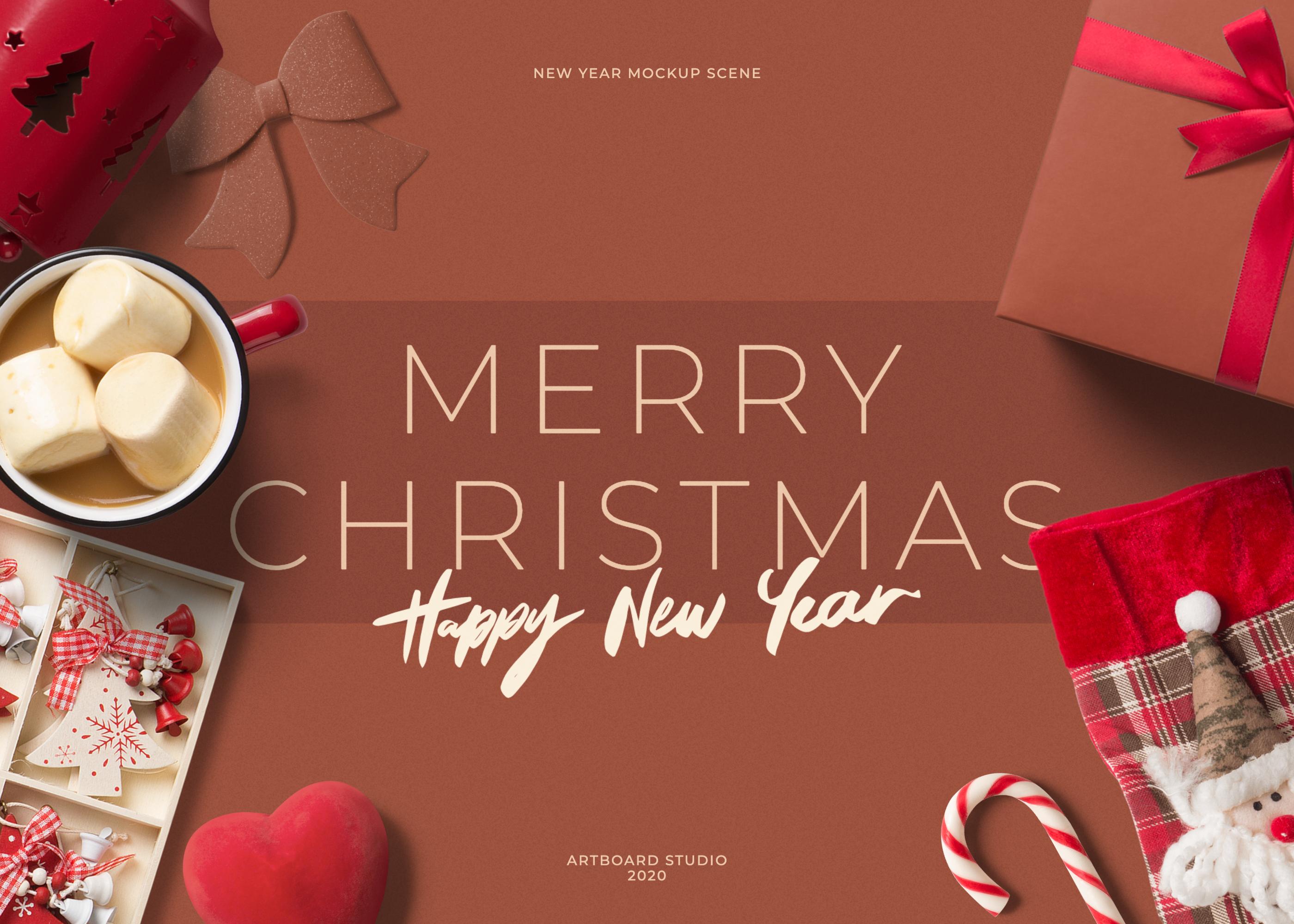 Create Mockups Online Artboard Studio New Year Mockup Scene